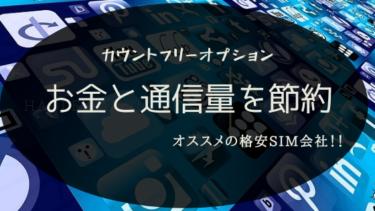 カウントフリーでお金も通信量も節約!オススメ格安SIM【2020最新版】